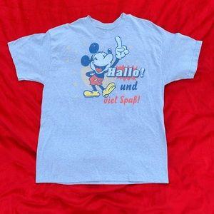 Mickey Mouse German Epcot T-shirt Sz L